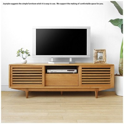 テレビ台 テレビボード 幅150cm ナラ材 ナラ無垢材を贅沢に使用したオイル仕上げの木製テレビ台 スライド扉