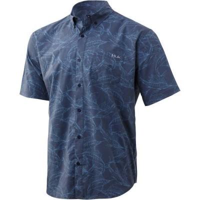 フック メンズ シャツ トップス Huk Men's Kona Woven Short Sleeve Button Down Shirt