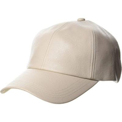 [センス オブ グレース] フェイクレザーベースボールキャップ SYNTHETIC BB CAP アイボリー 日本 FREE (FREE サイズ)