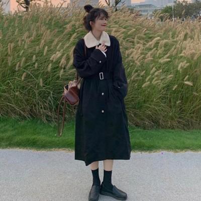 冬服 秋冬物長袖コート フェイクファー コート レディース フェイクミンク毛 アウター 洋服の襟 おしゃれ 上着 防寒 着痩せ 厚手 暖かいレディース