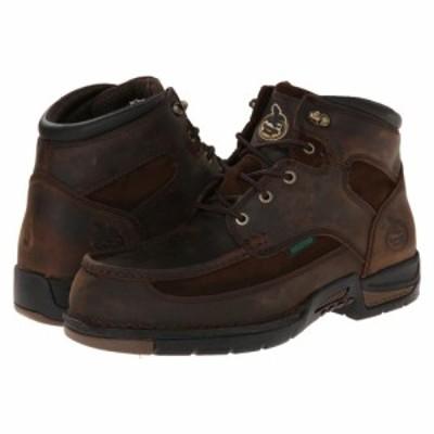 ジョージアブーツ Georgia Boot メンズ ブーツ モックトゥ レースアップ シューズ・靴 Athens 6 Moc Toe Lace Up Brown