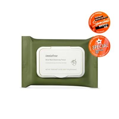 イニスフリーオリーブリアル クレンジングティッシュ(30枚/80枚) Innisfree Olive Real Cleansing Tissue (30 Sheets/80 Sheets)