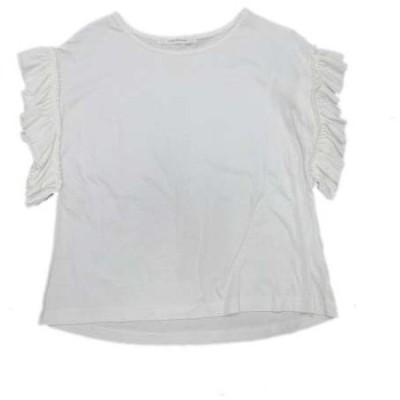【中古】ルノンキュール Lugnoncure Tシャツ カットソー フリル スリーブ 半袖 M 白 ホワイト/18 レディース 【ベクトル 古着】