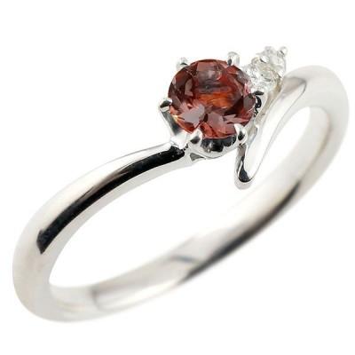 指輪 ピンキーリング 一粒 ガーネット シルバーsv925リング ダイヤモンド 大粒 sv925 レディース 1月誕生石 宝石 最短納期 送料無料