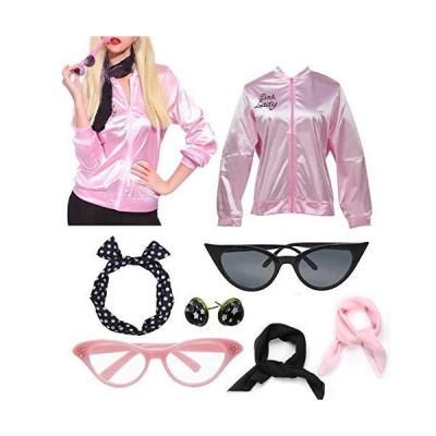 zhongyichen Women 50S Lady Jacket with Rhinestone (L, Pink Color)並行輸入品 送料無料