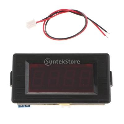 電圧計 デジタルLED パネル 全4種 自動ゼロ調整 絶縁 高精度 - AC300V-P12V(レッド)