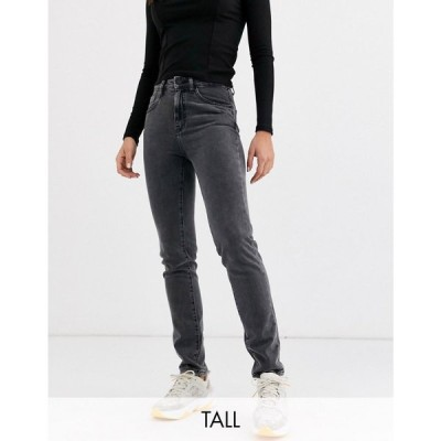 ノイズィーメイ Noisy May Tall レディース ジーンズ・デニム ボトムス・パンツ straight leg jeans in washed black ウォッシュブラック