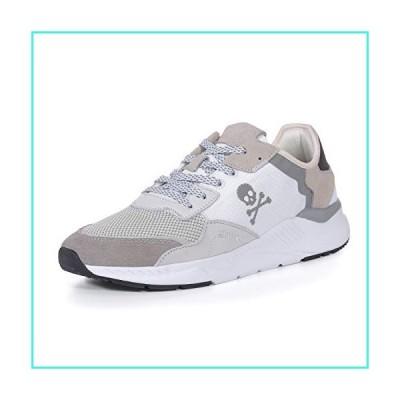 【新品】Pulltop Men's Walking Shoe and Fashion Sneakers Breathable Upper Light Casual Shoes Off White(並行輸入品)