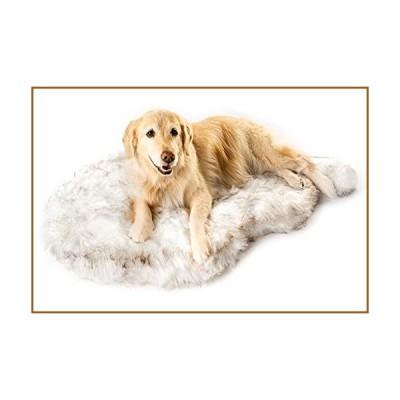"Puprug Faux Fur Memory Foam Orthopedic Dog Bed, Premium Memory Foam Base, Ultra-Soft Faux Fur Cover, Modern and Attractive Design (Giant - 60"" L X 35"""