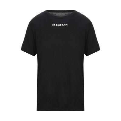 HILTON T シャツ ブラック M コットン 100% T シャツ