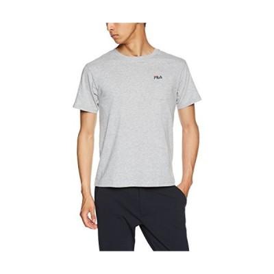 フィラ FILA フィラ Men's 綿ポケット付きワンポイント刺繍半袖Tシャツ FH7300 Tシャツ メンズ グレー 日本 L (日本サ
