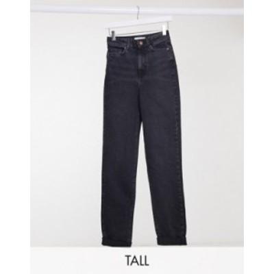 ニュールック レディース デニムパンツ ボトムス New Look Tall mom jeans in black Black