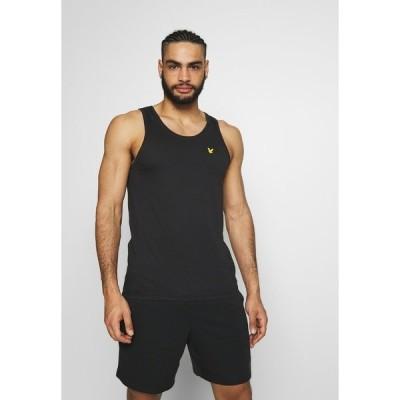 ライルアンドスコット カットソー メンズ トップス DARTMOOR VEST - Sports shirt - true black