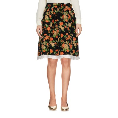 エムエスジーエム MSGM ひざ丈スカート オレンジ XS 100% ナイロン ひざ丈スカート