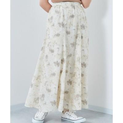スカート マーブル柄スカート