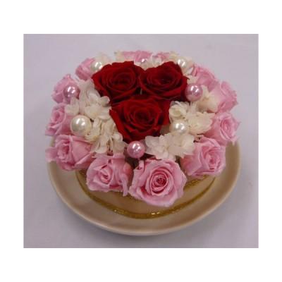 プリザーブドフラワー/フラワーケーキ・レッド&ピンク