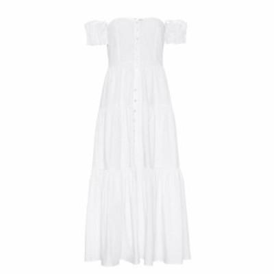 スタウド Staud レディース ワンピース マキシ丈 ワンピース・ドレス Elio cotton maxi dress White