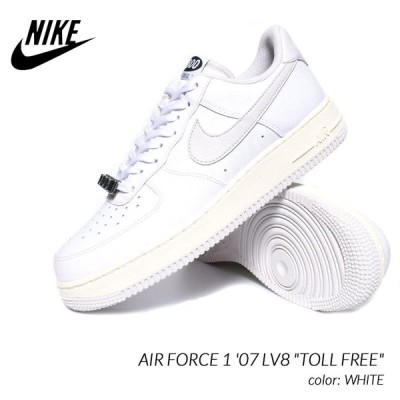 "NIKE AIR FORCE 1 '07 LV8 ""TOLL FREE"" WHITE ナイキ エアフォース 1 スニーカー ( 白 ホワイト トールフリー メンズ CJ1631-100 )"