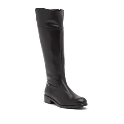 イタリアンシューメーカー レディース ブーツ&レインブーツ シューズ Angelica Leather Knee-High Boot BLACK