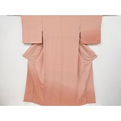 リサイクル 平等院鳳凰堂模様織り出し付け下げ色無地着物