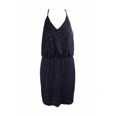 Jessica Simpson ジェシカシンプソン ファッション ドレス Jessica Simpson Navy Sequined Racerback Halter Dress 12