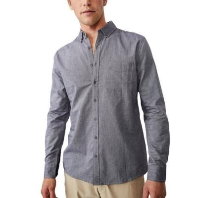 コットンオン シャツ トップス メンズ Men's Brunswick Long Sleeve Shirt Gray