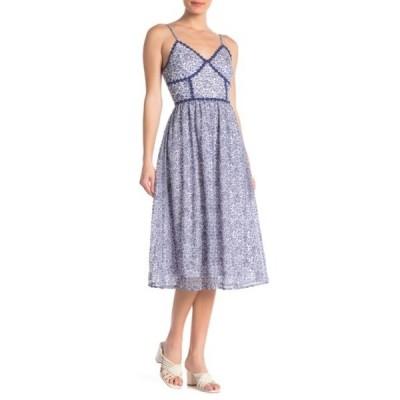 エヌ・エス・アール レディース ワンピース トップス Lace Midi Dress OPT A BLUE