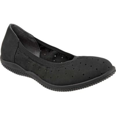 ソフトウォーク サンダル シューズ レディース Hampshire Ballerina Flat (Women's) Black Nubuck Leather