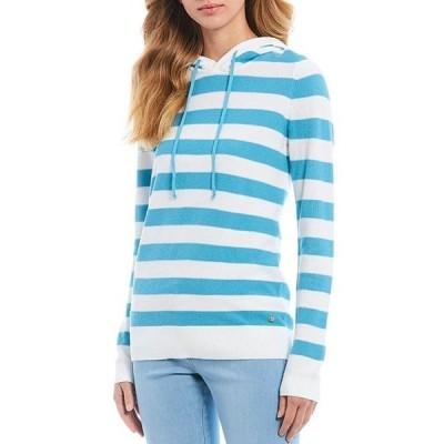サウザーンタイド レディース パーカー・スウェット アウター Luis Stripe Hooded Cotton Blend Sweater