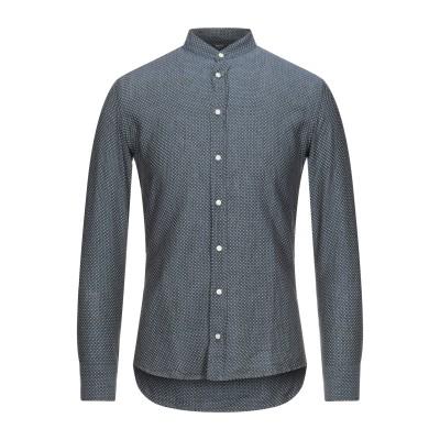 BASTONCINO シャツ ブルーグレー 37 リネン 100% シャツ