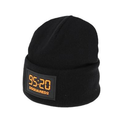 ディースクエアード DSQUARED2 帽子 ブラック one size ウール 100% 帽子