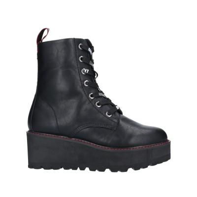 67 SIXTYSEVEN ショートブーツ ブラック 37 紡績繊維 ショートブーツ