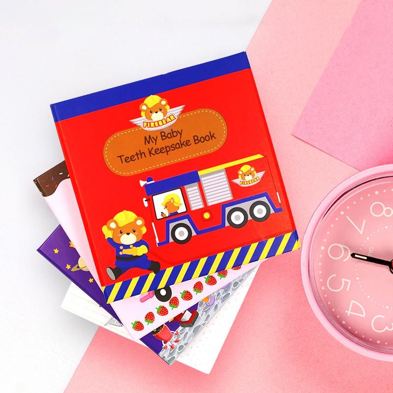 Gifthing 乳牙保存盒 牙屋 乳牙盒 牙齒收藏收納 男女寶寶 兒童生日禮物 玩具紀念品 牙齒紀念盒