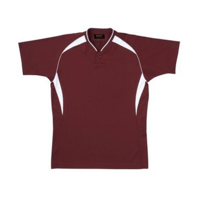 ZETT(ゼット) 野球 ベースボールシャツ (プルオーバー) BOT740A エンジ/ホワイト(6811) 2XO