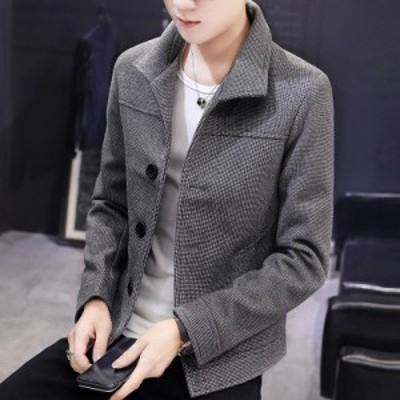 お出かけ 防寒 旅行 アウター 上着 紳士 ショートジャケット 韓国風 お兄系 メンズ 通勤 OL オフィス 通学 体型カバー 学生 旅行 フォー