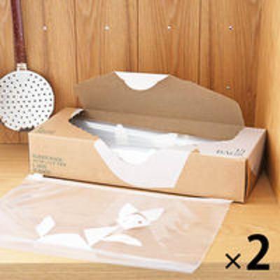 アスクルスライダーバッグ(マチ付き 冷蔵 冷凍対応) L A4ヨコサイズがピッタリ入る 1セット(15枚入×2箱) ロハコ(LOHACO)オリジナル