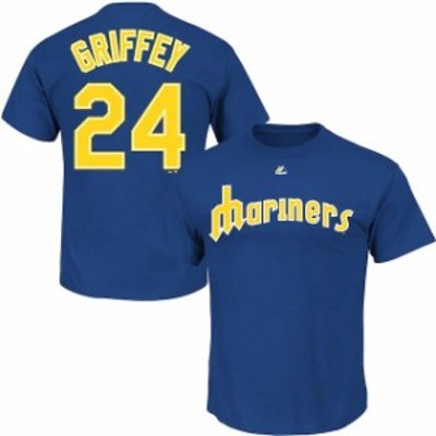Majestic マジェスティック スポーツ用品  Ken Griffey Jr. Seattle Mariners Royal Big & Tall Cooperstown Name & Numbe