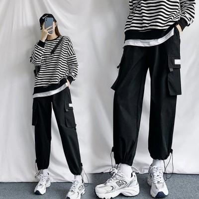 カーゴパンツ ボトムス スポーティ ファッション 大きいサイズ ユニセックス ダンス 衣装 韓国 個性的 服 原宿系ヒップホップダンス