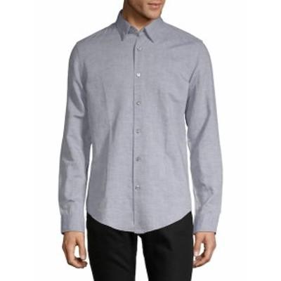 ヒューゴボス メンズ カジュアル ボタンダウンシャツ Rodney Textured Button-Down Shirt