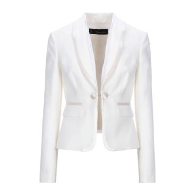 ディースクエアード DSQUARED2 テーラードジャケット ホワイト 42 コットン 66% / シルク 34% テーラードジャケット