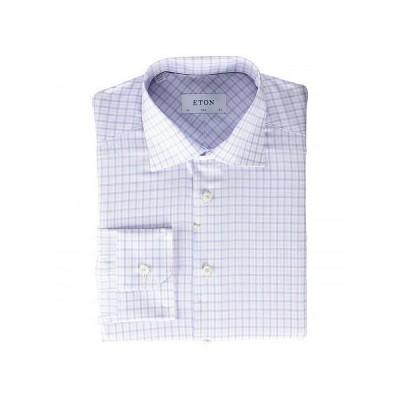 Eton イートン メンズ 男性用 ファッション ボタンシャツ Slim Fit Plaid Button-Down - Pink