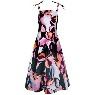 クリスチャン シリアノ レディース ワンピース トップス Abstract-Print Midi Dress