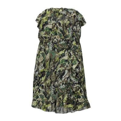 POEMS ミニワンピース&ドレス ミリタリーグリーン L ポリエステル 100% ミニワンピース&ドレス