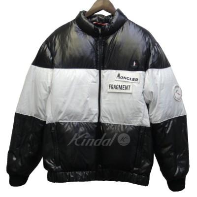 MONCLER GENIUS × FRAGMENT 18AW「WONDRA」ロゴワッペンダウンジャケット ブラック×ホワイト サイズ:1 (新宿店)