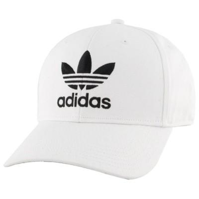 アディダス adidas Originals メンズ キャップ 帽子 Trefoil Precurve Adjustable Cap White