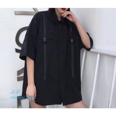 ストライプ ブラック シャツ