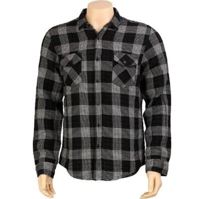 クルー KR3W メンズ シャツ トップス Hardee Long Sleeve Shirt black