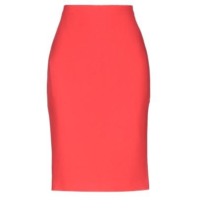 BOUTIQUE MOSCHINO ひざ丈スカート オレンジ 40 トリアセテート 70% / ポリエステル 30% ひざ丈スカート