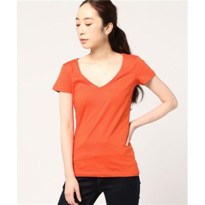 tシャツ Tシャツ PACT WOMEN'S V-NECK TEE-SUNSET パクト レディース オーガニックコットン Vネックティー