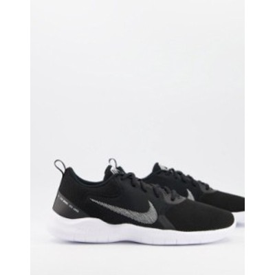 ナイキ メンズ スニーカー シューズ Nike Running Flex Experience Run 10 sneakers in black and white White